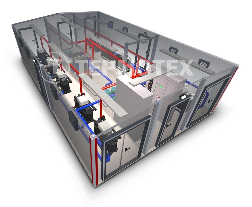 Электрокотельная Терманик Модуль устройство котельной в 3D